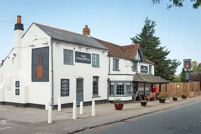 The Pineapple pub in Dorney
