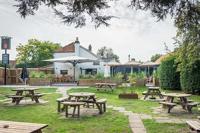 Pub garden Dorney, near Windsor